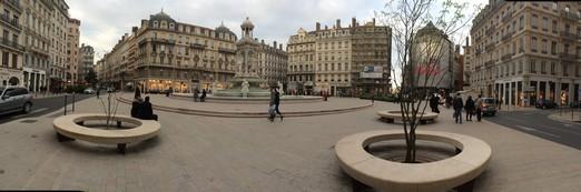 Place des Jacobins Lyon France Villebois Limestone